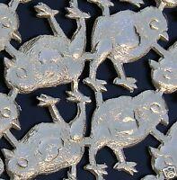 German Dresden Gold Foil Die Cut Scrap Art Embossed FRAME FILIGREE Decoupage
