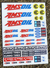 RC MINI CORR AMSOIL stickers decals 1/18 scale losi xray hpi 18th associated
