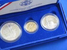 1986 BU Statue Of Liberty Commemorative Gold Silver Set B3052