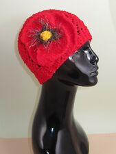 PRINTED KNITTING INSTRUCTIONS-BIG POPPY CHUNKY LACE SKULLCAP KNITTING PATTERN