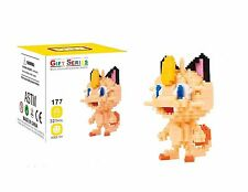 LNO Anime Pokemon Meowth DIY Nano Block Diamond Mini Building (321pcs) with Box