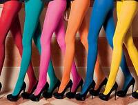100 DENIER OPAQUE TIGHTS BLACK, WHITE, RED, NAVY, NATURAL AND MORE, O/S & XL N/S