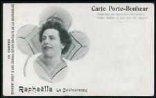 Circus freak Raphaella sorcerer lucky lady woman original old 1910s postcard