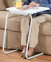 My Comfy Bedside Table - Foldable Table Bedside Laptop Table White