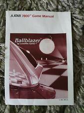 Atari 7800 Ballblazer Manual Only