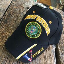 U.S.ARMY hat Military ARMY Vietnam Veteran Official Licensed Baseball cap-BK -S