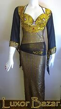 Egyptian Belly Dance Costume Saidi Dress, Baladi Galabeya, Fallahi Abaya, gypsy