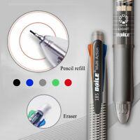 5in1 Ballpoint Pen Mechanical Pencil Multicolor Eraser Ball Pens School Supplies