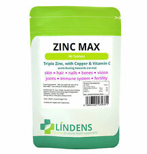 Zinc Max With Copper&Vitamin C High Strength Food supplement 90 Tablets
