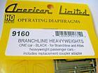 American Limited #9160 Branchline Heavyweights Black Branchline & Atlas HO-Scale