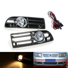 2Pcs/Set 12V BUMPER GRILLE & FOG LIGHT FOR VW BORA 99-04 Clear Lens Amber Light
