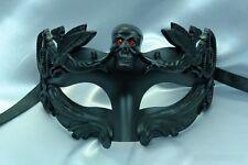 Men's Skull Roman Sun Warrior Venetian Masquerade Mask - Black