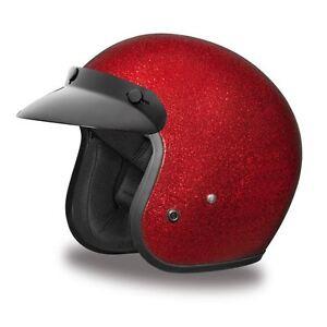 Daytona Cruiser Helmet Slim Line 3/4 Open Face Quick Release DOT 2XS-4XL