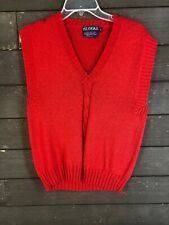 Vintage B.I.Gear 522 Cable V-Neck Sweater Vest Men's L