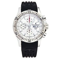 Revue Thommen Men's Airspeed Silver Dial Rubber Strap Automatic Watch 16071.6828