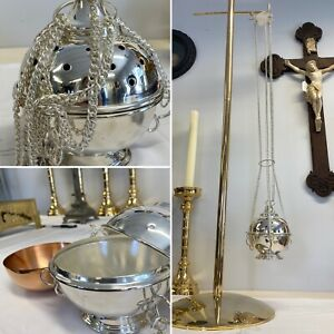 4 Chain Silver Plated Thurible.