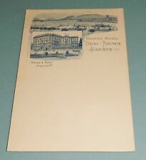 Postcard Vintage - Beau Rivage Grand Hotel Switzerland Horse Carriage -Unposted