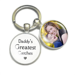 Personalised Fisherman Keyring Father's Day Birthday Gift for Dad Fishing Lovers