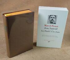 LA PLEIADE : MARCEL PROUST - JEAN SANTEUIL LES PLAISIRS ET LES JOURS / 1987