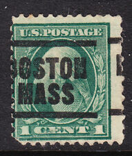 USA 1917 Washington - 1c Green  P11 - Boston Mass