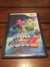 Super Mario Galaxy 2 (Nintendo Wii, 2010) Case/Manual/Disk