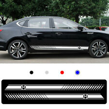 For MG 3 6 CS ZERO Car Body Sticker Vinyl Side Skirt Sticker Decals white 2pcs