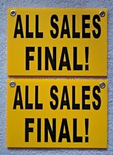 """(2)  ALL SALES FINAL!   8"""" x12"""" Plastic Coroplast Signs with Grommets"""