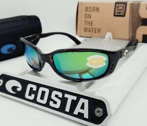 """COSTA DEL MAR tortoise/green mirror """"BRINE"""" POLARIZED 580P sunglasses NEW IN BOX"""