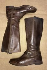 Cole Haan Brown Leather Riding Boots Women's size 7.5