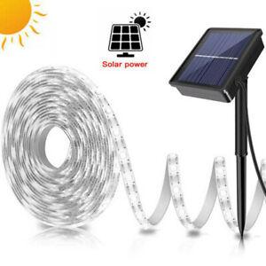 5M Solar Powered LED Strip Light Band Tape Lamp Outdoor Garden Waterproof Lights