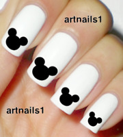 Disney Mickey Mouse Nail Art Water Decals Stickers Manicure Salon Mani Polish