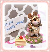 ❤️Wee Forest Folk M-171 Zelda Cream Dress Pink Rose Glitter Flapper Retired❤️