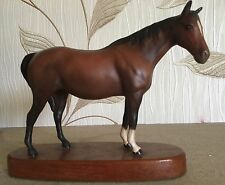 BESWICK HORSE PONY MARE FACING RIGHT HEAD UP  No. 1991 BROWN MATT ON PLINTH