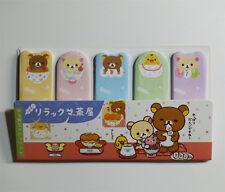 75 sheets Cute Rilakkuma Bear Tea House Stick Marker Cute Sticky Notes Post it