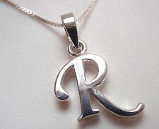 "The Letter ""R"" Necklace 925 Sterling Silver Corona Sun Jewelry r"