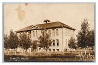 Forsyth High School, MT Montana,  RPPC Real Photo Postcard Posted 1909