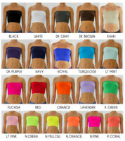 Womens Seamless Base Layer Strapless Non Padded Tube Bandeau Bra Crop Top