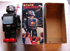 VINTAGE Japan Amico Horikawa  Space Explorer Tin Robot battery op 60's W BOX  TV