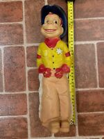 Vintage Howdy Doody Sheriff Cowboy Hollow Soft Plastic Statue Figure FREE SHIP