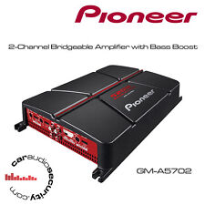 Pioneer GM-A5702 - 2-Channel Bridgeable Amplifier with Bass Boost 1000W Bass Amp
