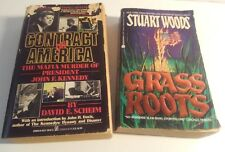 2 PB Books: CONTRACT ON AMERICA by David E. Scheim & GRASS ROOTS by Stuart Woods