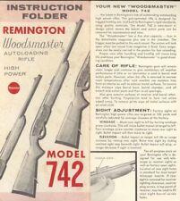 Remington M742 Woodmaster Manual c1959