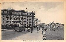 1097) BARI, LUNGOMARE NAZARIO SAURO. ANIMATA, AUTOBUS, PESCATORE. VG NEL 1936.