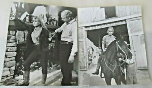 2 Doris Day 8 x 10 inch Photo stills from 1968 Ballad of Josie, George Kennedy