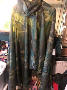 US Army USMC USN USAF USCG 1989 dated Woodland Camouflage Rain Poucho OIF GWOT