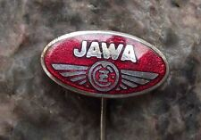 Antique Jawa CZ Moto Motorcycles Motorbikes Czechoslovakia Oval Logo Pin Badge