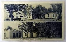 Postcard Pine Hill Tourist Court Motel Marysville Kansas #Q1