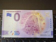 BILLET EURO SOUVENIR 2021-6 AQUARIUM BIARRITZ ANNIVERSAIRE