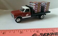 1/64 CUSTOM farm toy 1971 chevy c10 fs farm service flatbed TRUCK ERTL farm toy