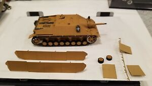 Vintage Monogram German Panzerjager IV Tank 1/32 Built  w/figure 1973